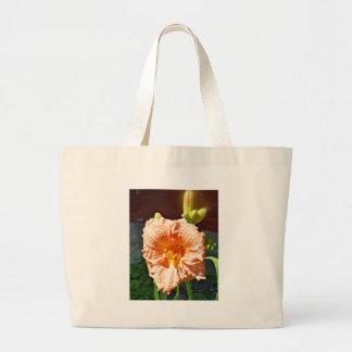 Taglilie mit einem goldenen Glühen Jumbo Stoffbeutel
