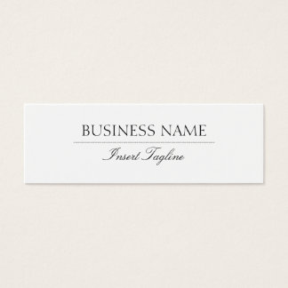 Tagline elegant mini visitenkarte