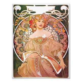 Tagtraum-Träumerei-Kunst Nouveau Dame Alphonse Fotos