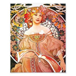 Tagtraum-Vintage mit Blumenkunst Nouveau Alphonse Kunstfoto