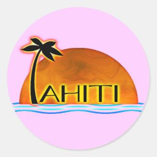 Tahiti-Aufkleber Runder Aufkleber