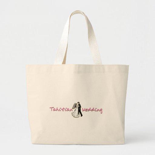 tahitian Hochzeit Einkaufstasche