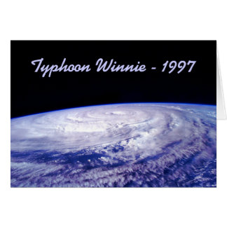 Taifun 1997 Winnie Karte