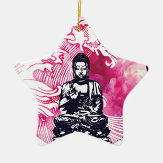 Taifun-Buddha-Welle Keramik Ornament