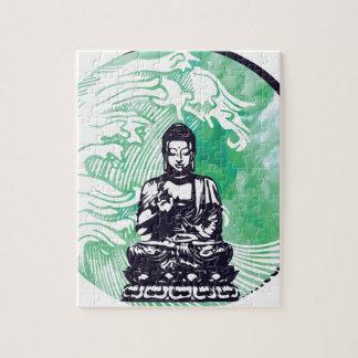Taifun-Buddha-Wellen-Smaragd-Rauch Puzzle