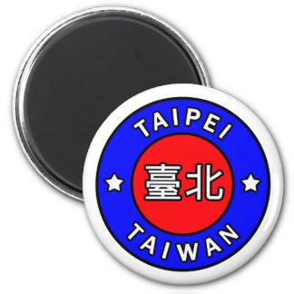 Taipeh Taiwan Runder Magnet 5,7 Cm