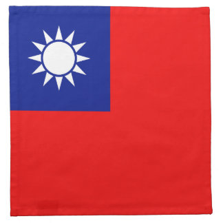 Taiwan-Flaggen-Serviette Stoffserviette