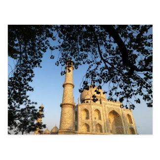 Taj Mahal am Sonnenaufgang. Agra, Indien 2008. Postkarte