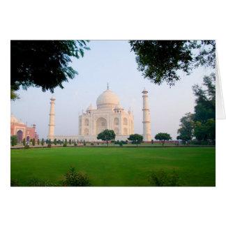 Taj Mahal an Sonnenaufgang einer der Wunder von Karte