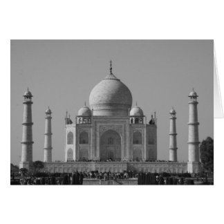 Taj Mahal b&w Karte