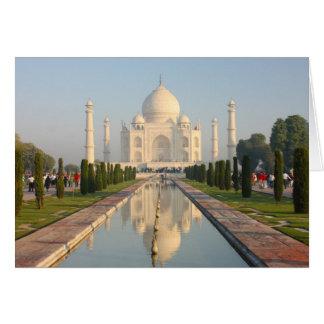 Taj Mahal, berühmtes historisches Monument A Karte