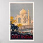 Taj Mahal - Besuchs-Indien Plakat