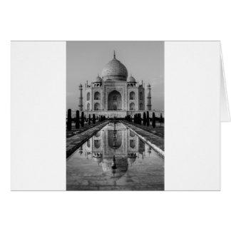 Taj Mahal BW Karte