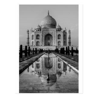 Taj Mahal BW Postkarte