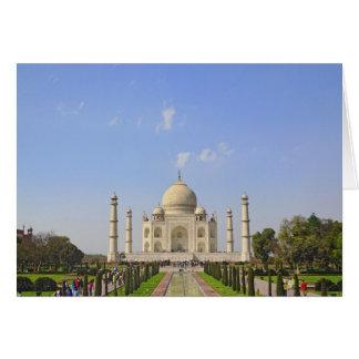 Taj Mahal, ein Mausoleum gelegen in Agra, Indien, Karte