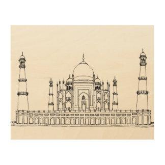 Taj Mahal Holzwanddeko