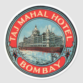 Taj Mahal Hotel-Bombay-Gepäckanhänger Runder Aufkleber