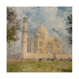 Taj Mahal in Agra Indien - dem Holzdruck