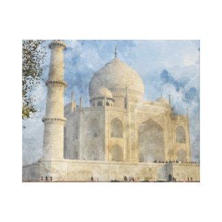 Taj Mahal in Agra Indien - dem Leinwanddruck