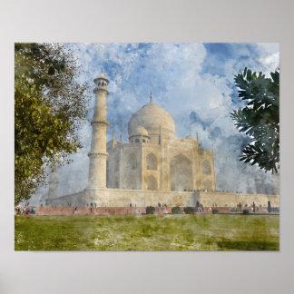 Taj Mahal in Agra Indien - dem Poster