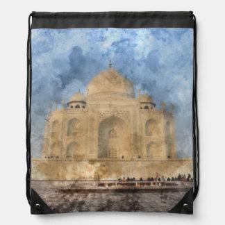 Taj Mahal in Agra Indien - dem Sportbeutel