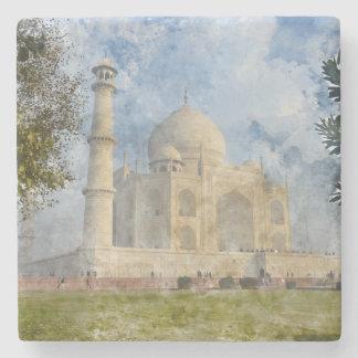 Taj Mahal in Agra Indien - dem Steinuntersetzer
