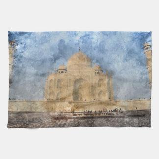 Taj Mahal in Agra Indien Geschirrtuch