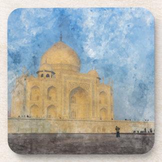Taj Mahal in Agra Indien Getränkeuntersetzer