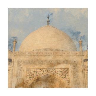 Taj Mahal in Agra Indien Holzdruck