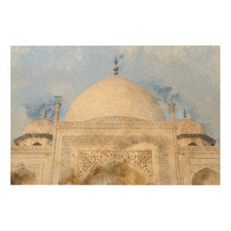Taj Mahal in Agra Indien Holzleinwand