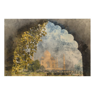 Taj Mahal in Agra Indien Holzwanddeko