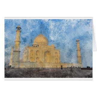 Taj Mahal in Agra Indien Karte