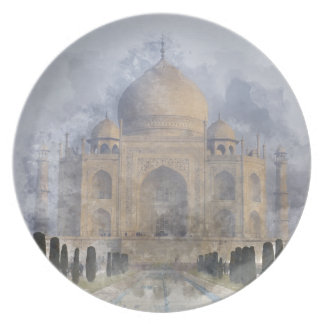 Taj Mahal in Agra Indien Melaminteller