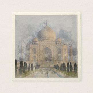 Taj Mahal in Agra Indien Papierserviette