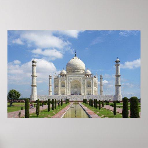 Taj Mahal in Agra Indien Plakate