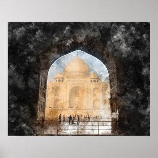 Taj Mahal in Agra Indien Poster