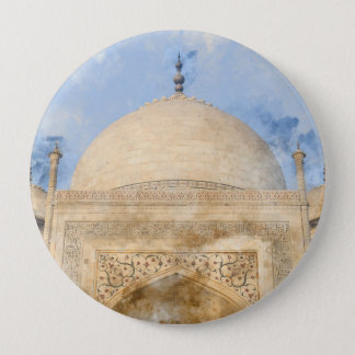 Taj Mahal in Agra Indien Runder Button 10,2 Cm