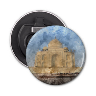 Taj Mahal in Agra Indien Runder Flaschenöffner