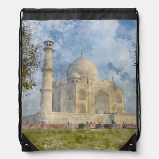 Taj Mahal in Agra Indien Sportbeutel