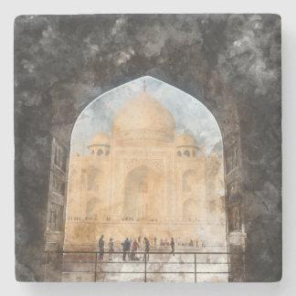 Taj Mahal in Agra Indien Steinuntersetzer