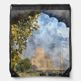 Taj Mahal in Agra Indien Turnbeutel