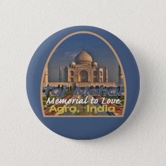 TAJ MAHAL Indien Runder Button 5,1 Cm