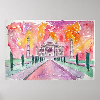 Taj Mahal - indischer Geist Poster