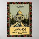 Taj Mahal Lavande Plakat