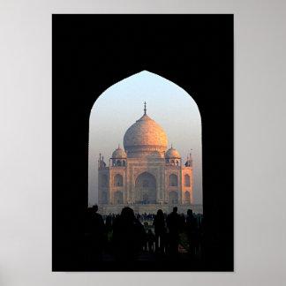 Taj Mahal Licht des Poster