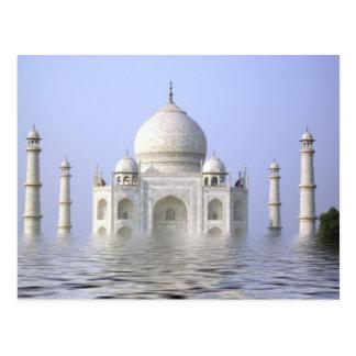 Taj Mahal mit Wasser Postkarte