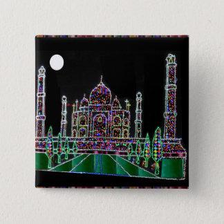 Taj Mahal Moghul Architektur-ErbGebäude 99 Quadratischer Button 5,1 Cm