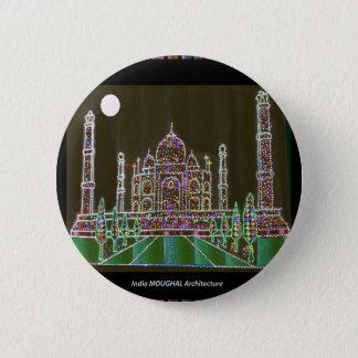 Taj Mahal Moghul Architektur-ErbGebäude 99 Runder Button 5,1 Cm