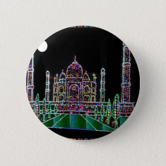 Taj Mahal Moghul Architektur-ErbGebäude 99 Runder Button 5,7 Cm