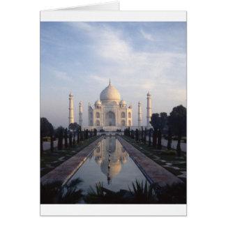 Taj Mahal Reflexion in Agra, Uttar Pradesh, Indien Karte